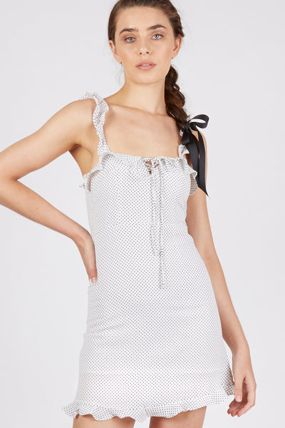 Ruby Tie Front Sleeveless Mini Dress - Fleur & Sonnet
