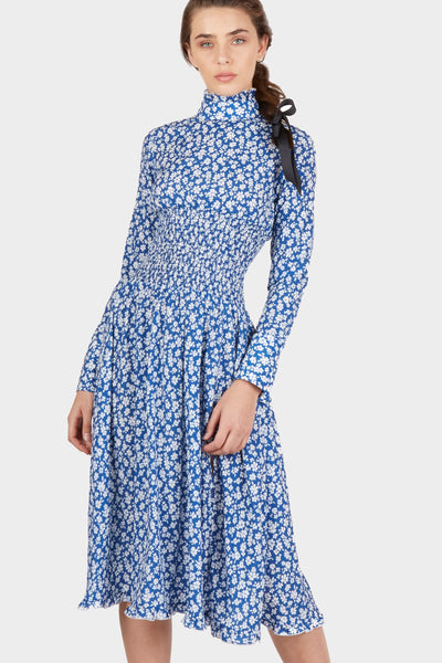 Juliette Smocked Long Sleeve Midi Dress - Fleur & Sonnet