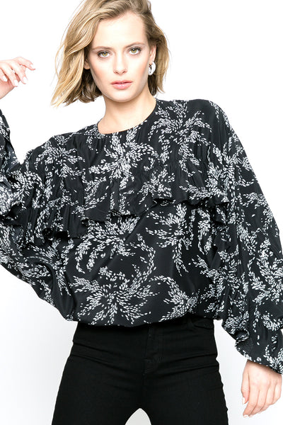 Louise Oversized Ruffle Long Sleeve Blouse - Fleur & Sonnet