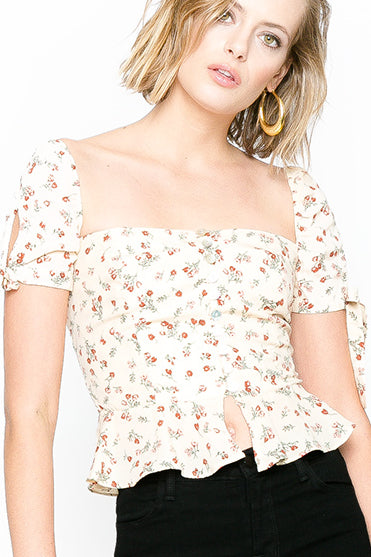Renée Button Up Short Sleeve Top - Fleur & Sonnet