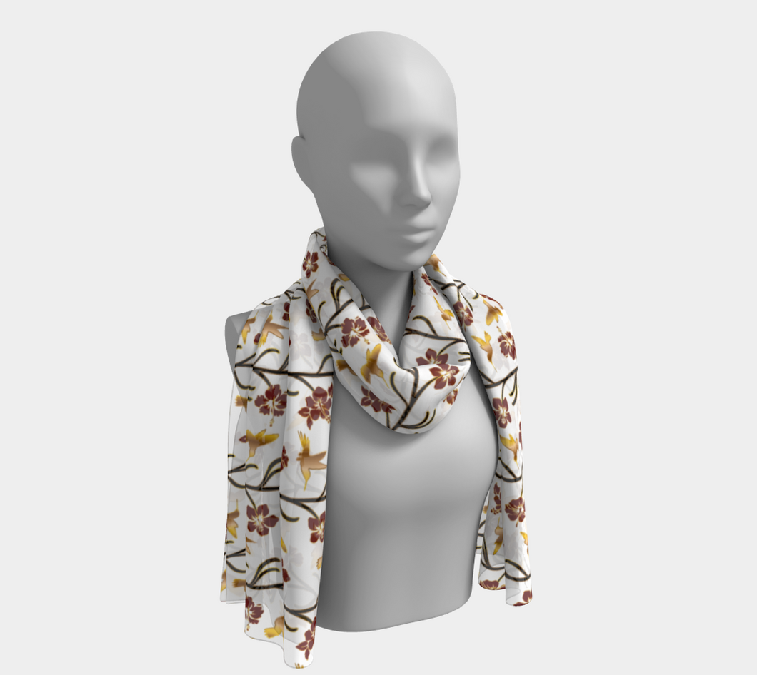 Long Scarf - Lei with me (Blanche), neck, Bohemian Haven LLC., Bohemian Haven LLC.