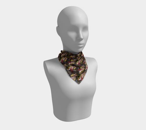 Square Scarf - All aboard, neck, Bohemian Haven LLC., Bohemian Haven LLC.