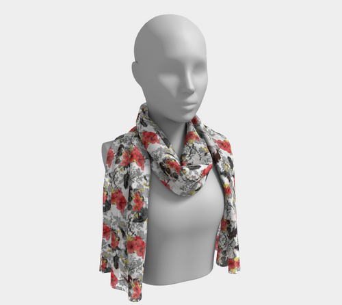 Long Scarf - Don't forget your crown, neck, Bohemian Haven LLC., Bohemian Haven LLC.