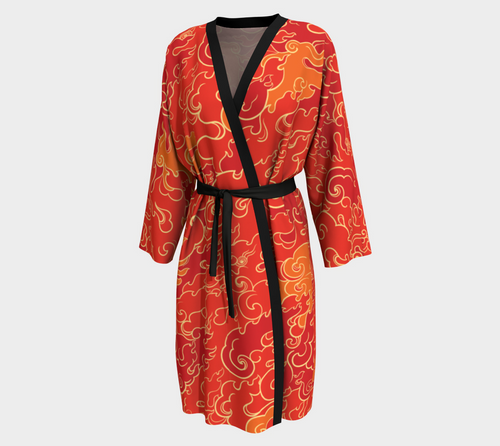 Peignior - Firestorm, robe, Bohemian Haven LLC., Bohemian Haven LLC.