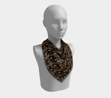 Load image into Gallery viewer, Square Scarf - Lei with me (Noire), neck, Bohemian Haven LLC., Bohemian Haven LLC.