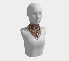 Load image into Gallery viewer, Square Scarf - Nectar of life (Noire), Square Scarf, Bohemian Haven LLC., Bohemian Haven LLC.