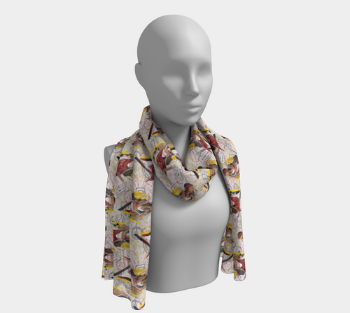 Long Scarf - All aboard, neck, Bohemian Haven LLC., Bohemian Haven LLC.