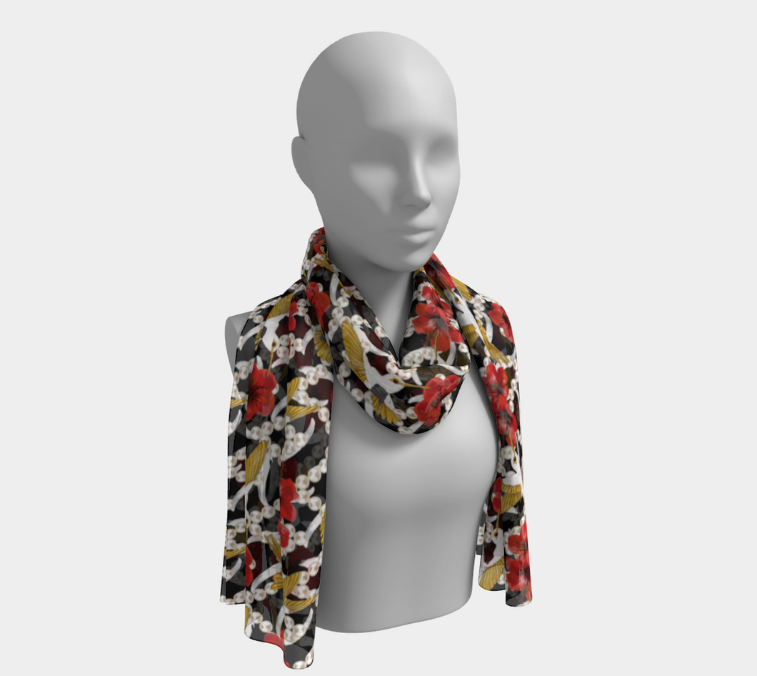Long Scarf - Nectar of Life (Noire), Long Scarf, Bohemian Haven LLC., Bohemian Haven LLC.