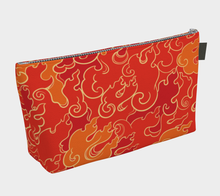 Load image into Gallery viewer, Makeup Bag - Firestorm, Makeup Bag, Bohemian Haven LLC., Bohemian Haven LLC.