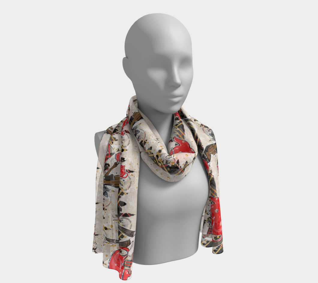 Long Scarf - Tea time, neck, Bohemian Haven LLC., Bohemian Haven LLC.