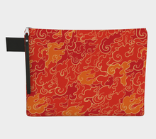 Load image into Gallery viewer, Zipper Carry-all - Firestorm, Zipper Carry-all, Bohemian Haven LLC., Bohemian Haven LLC.