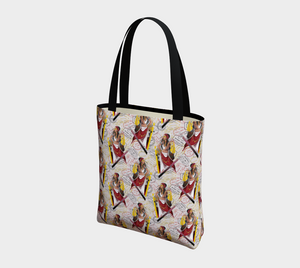 Tote Bag - All aboard, Tote Bag, Bohemian Haven LLC., Bohemian Haven LLC.