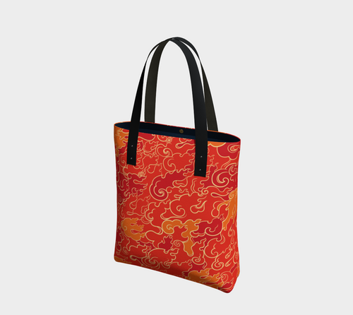 Tote Bag - Firestorm, Tote Bag, Bohemian Haven LLC., Bohemian Haven LLC.