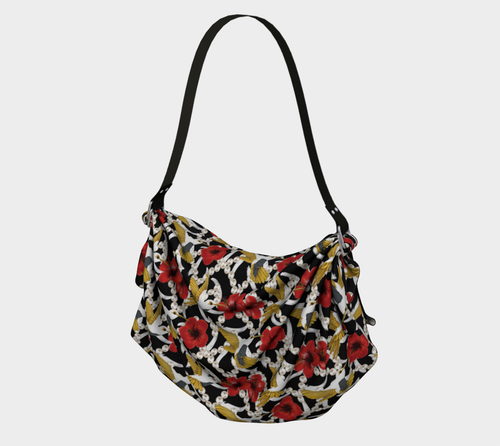 Origami Tote - Nectar of life (Noire), Origami Tote, Bohemian Haven LLC., Bohemian Haven LLC.