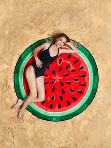 Sweet Water Mellon Vacation Round Scarve Shawl Beach Mat Free Size