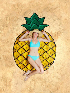 Sweet Pineapple Vacation Scarve Shawl Beach Mat Free Size