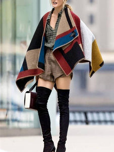 Fashion Color Matching Cape Scarf FREE SIZE
