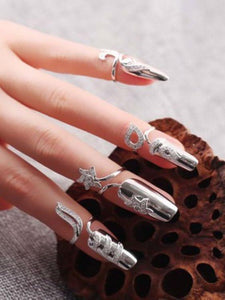Lucky Flower Of Finger-Nails Sterling Sliver Accessories SLIVER A
