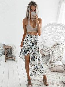 Floral Printed Sexy Bandage Skirt Bottoms XL