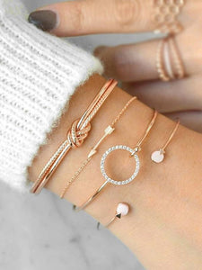 Fashion Simple Alloy Bracelet Accessories SILVER FREE SIZE