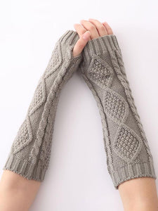 Knitted 6 Colors Sleevelet Accessories DEEP GRAY