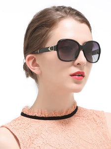 Classical Retro Ultra-violet Ray Intercepting Big Frame Sunglasses BLACK