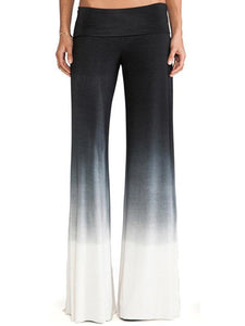 Simple Gradient High Waist Wide Leg Long Pant S