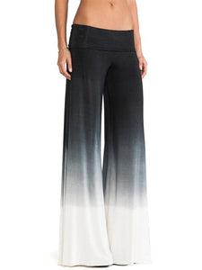 Simple Gradient High Waist Wide Leg Long Pant M