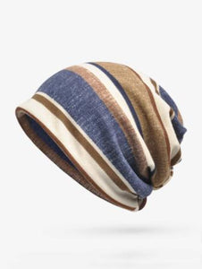 Bohemia Cotton Stripe Hat Accessories YELLOW