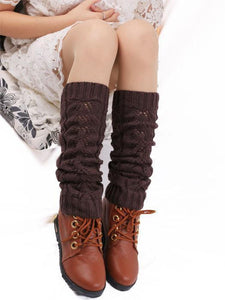 Leg Warmers Hollow Knee Stocking COFFEE