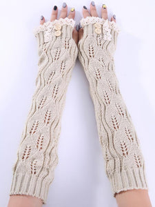Luluslike Knitted Half Finger Lace 7 Colors Sleevelet Accessories