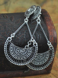 Vintage Bohemia Hollow Carving Hollow Earrings SLIVER