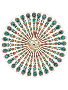 Beautiful Bohemia Round Shawl Beach Mat Free Size