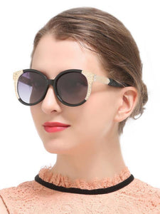 Classical Popular Ultra-violet Ray Intercepting Retro Sunglasses BLACK