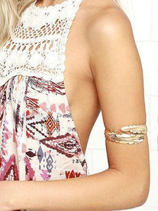 Bohemia Feather Arm Chain Accessories SLIVER
