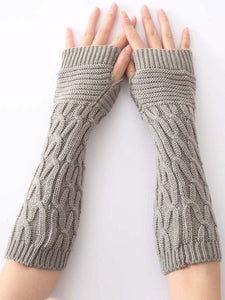 Knitted Half Finger 6 Colors Sleevelet Accessories DEEP GRAY