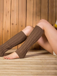 Popular Knitting Knee-high Leg Warmer Thermal Stocking MEDUIM GRAY