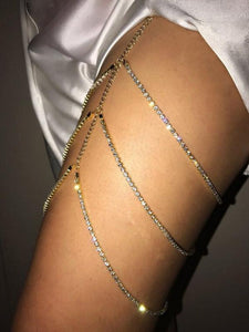 Pretty Multilayer Leg Chains Accessories GOLD FREE SIZE