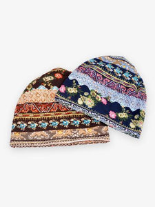 Bohemia Cotton Floral Hood Accessories BLUE