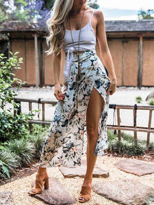 Floral Printed Sexy Bandage Skirt Bottoms S