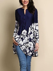 New Printed Long-Sleeve Shirt BLACK S
