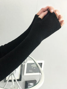 Slender Solid Color Sleevelet Accessories BLACK FREE SIZE