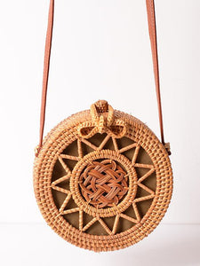 Rattan Flower Hollow Forest Handmade Bohemia Bag FREE SIZE