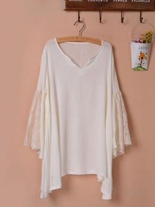 Pretty Sexy Solid Color Half Sleeve Long Sleeve V Neck Beach Vacation Cover-Ups Mini Dress APRICOT L