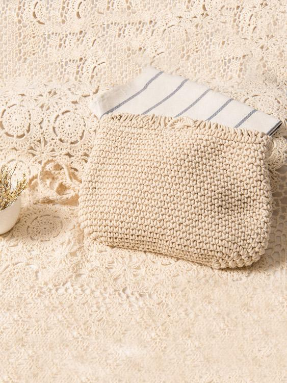 Luluslike Bohemia Knitted Crossbody Tasseled Bag