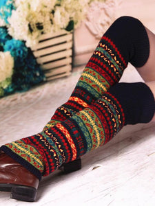 Bohemia Knitting Over Knee-high Stocking BLACK