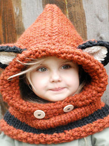 Luluslike Knitted Fox Featured Warmer Hat