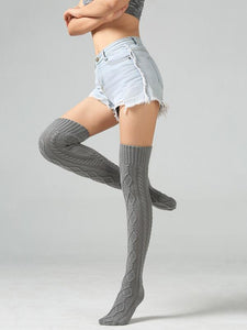 Luluslike Knitting Over Knee-high 4 Colors Stocking