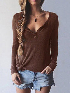 3 Colors Blouses\u0026Shirts Tops COFFEE L