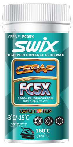 Swix FC5X Cera F Powder High Performance Glidewax